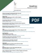 CCA Headlines February 12-16, 2018