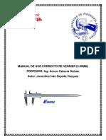 Manual de Uso de Vernier