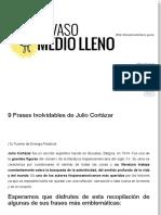 9 Frases Inolvidables de Julio Cortázar