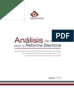 Analisis Temas Reforma Electoral2010