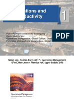 Operations Management - Operations and Productivity Ch. 1