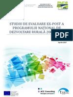 Studiu Evaluare Ex Post PNDR 2007 2013