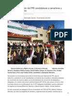 18-02-16 Ratifica Convención del PRI candidaturas a senadores y diputados federales