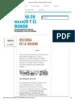 Historia deLaAduana – Aduana en Mexico y El Mundo