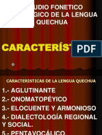 (3) Caracteristica Del Quechua