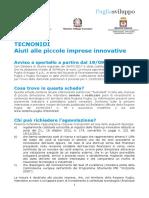 Scheda Avviso Tecnonidi - Aiuti Alle Piccole Imprese Innovative