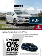 New Zafira Tourer-price Guide
