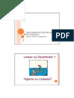 Microsoft PowerPoint - Procedimentos e Tecnicas de Limpeza