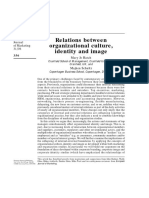 Relations Between Organizational Culture Identity and Image