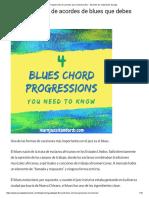 4 Blues Progresiones de Acordes Que Necesita Saber - Aprenda Los Estándares de Jazz