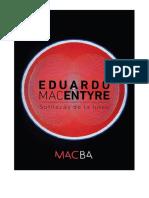 Eduardo Mac Entyre en MACBA - Gacetilla de Prensa