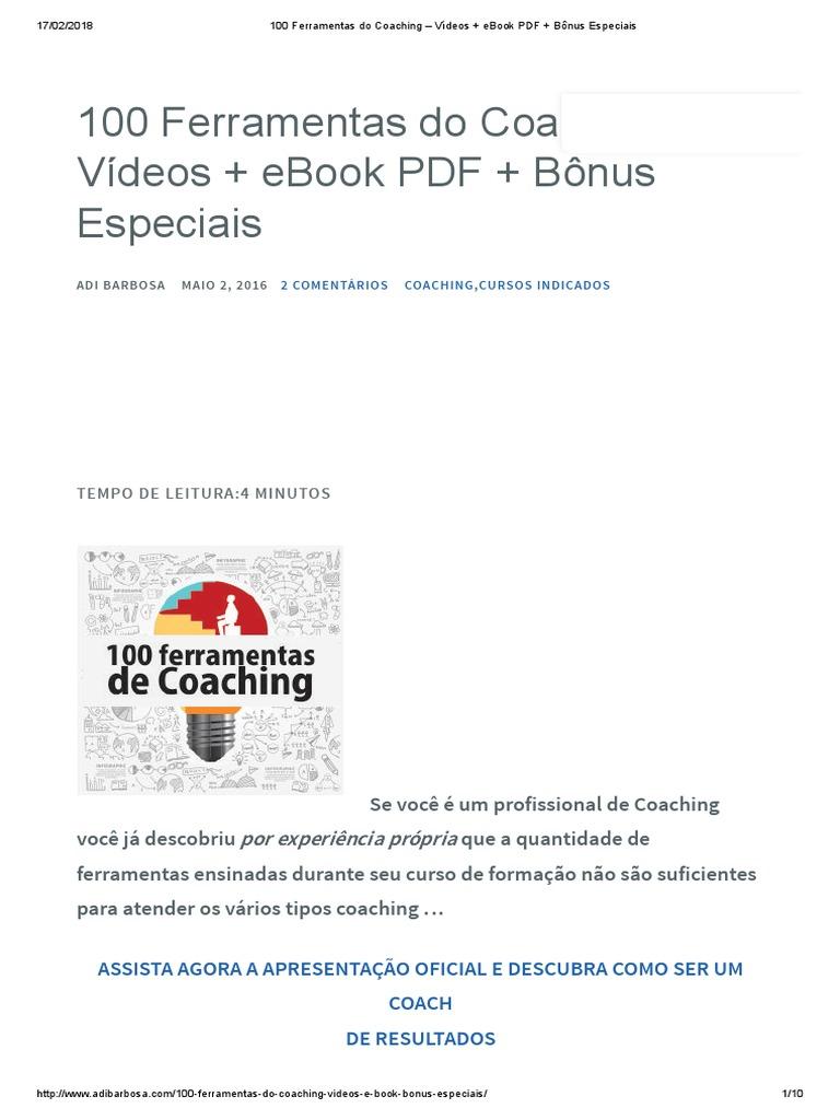 100 ferramentas do coaching vdeos ebook pdf bnus especiais fandeluxe Image collections