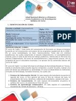 Syllabus Del Curso Inglés 1 - Course Syllabus