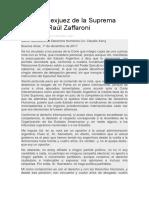 Carta de Zaffaroni 30 Razones Corte E