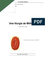 Une Liturgie de Mithras