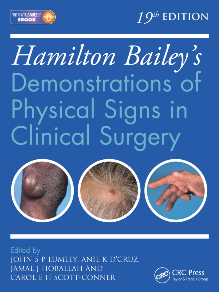 Hamilton Bailey's Physical Signs 19th Edition PDF