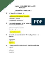 Cuestionario UTE Informatica Educativa