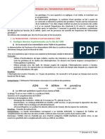 Expression de l Information Genetique (1)