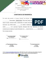 Constancias de residencia las Delicias