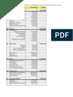 USG Student Fee Budget 2010-2011