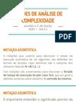 2 - Aeds1 Aula 2 - Noções de Análise de Complexidade