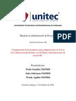 Comparación de La Normativa Para Adquisiciones de La Ley de Contratación Del Estado y La Del Banco Interamericano de Desarrollo
