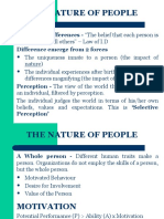 1 Human Relations - Nature of the People