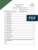Team Sheet Montrose Rugby Football Club V Panmure RFC