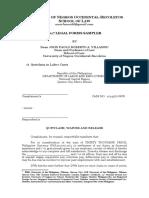 2017 Legal Forms Sampler