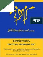 Folklore Festival Program 2017