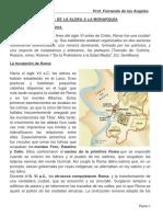 Ficha de Historia Roma de La Aldea a La Monarquia