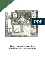 Ficha Tecnica de La Obra Libro Completo Acerca de La Determinacion de Las Estrellas