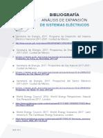 Bibliografía Análisis de Expansión de Sistemas Eléctricos