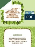 Factores Sociales y Economicos Implicados en La Transformacion de Recursos Naturales Para Obtener Recursos