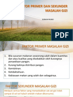 2. Faktor Primer Dan Sekunder Masalah Gizi