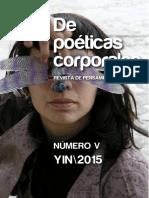 Revista Poeticas Corporales Numero V 2015
