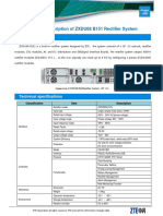 Product Descirption of ZXDU68 B151 Rectifier System20160301 V2.0