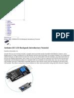 Arduino I2C LCD Backpack