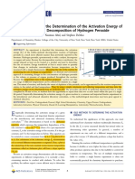 2. Efficient Method for the Determination of the Activation Energy of Hydrogen Peroxide Decomposition
