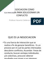 Negociacion ( Estrategia Para Solucionar Conflictos)