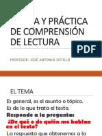 Teoría y Práctica de Comprensión de Lectura Jasv