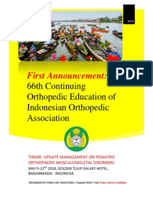 1st Announcement 66th COE - IOA, Banjarmasin, 9-12 May 2018
