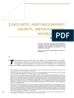 SWIGGERS_P. Linguistic Historiography Object, Methodology, Modelization [2012]