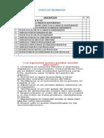 Check List Neumatico