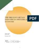 Precious Metals Industry in Switzerlands Economy