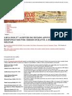 Lista Dos 377 Agentes Do Estado Apontados Como Responsáveis Por Crimes Durante a Ditadura Militar _ Documentos Revelados