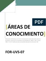 For Uvs 07 Areas de Conocimiento
