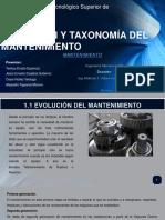 Evolución y Taxonomía Del Mantenimiento