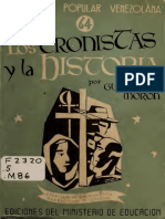 Guillermo Morón - Los Cronistas y La Historia