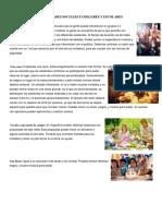 Actividades Sociales Familiares y Escolares